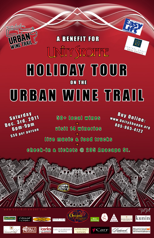 david-j-diamant-urban wine trail poster and show